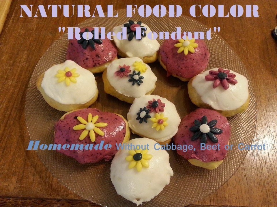 How to make a cake with homemade  natural food coloring – Recipe